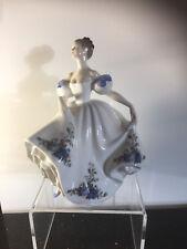 Rare Beatirce lady figure Royal Doulton HN 3262 Royal Albert  Moonlight Rose blu