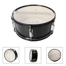 14'' Snare Drum Hand Percussion Instrument with Drum Wire Sticks Black