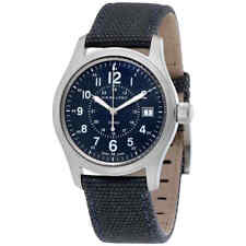 Hamilton Khaki Field Blue Dial Blue Canvas Men's Watch H68201943