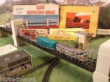 NMINT Atlas Brass Suspension Bridge Railroad Tyco Lighted Train Track Set