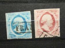 "NETHERLANDS OLANDA 1852 ""EFFIGY KING GUGLIELMO III"" TIMBRATI USED (CAT.A)"