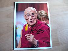 Dalai Lama #2    handsignierte Unterschrift auf wunderbarem Foto.