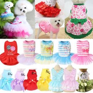 Pet Clothes Puppy Small Dog Cat Cotton Lace Tutu Skirt Apparel Princess Dress Do