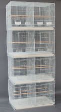 """Lot of 4 Large 30"""" Breeding Breeder Canaries Budgies Bird Cages W/Divider 169"""