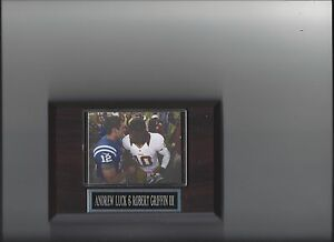 ANDREW LUCK ROBERT GRIFFIN III PLAQUE WASHINGTON REDSKINS COLTS FOOTBALL NFL