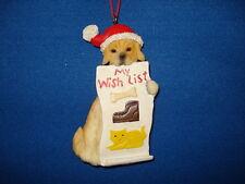 Golden Retriever Ornament With Wish List 70370G 70