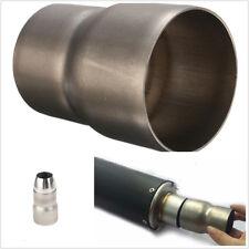 Metal 60mm to 51mm to 36mm Motorcycle Bikes Exhaust Muffler Adapter+Welding Head