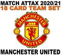 Match Attax Champions League 2020/21 MANCHESTER UNITED 18 card team set