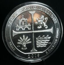 2019 San Antonio Missions Texas 5 Oz 999 Silver America the Beautiful Coin