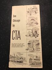 See Chicago by CTA - Chicago Transit Authority Brochure - 1958 - CTA Charter Svc