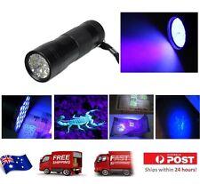 12 LED UV Ultra Violet Blacklight Flashlight Torch
