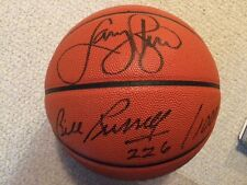 BILL RUSSELL+LARRY BIRD AUTHENTIC SIGNED FULL SIZE BASKETBALL  RARE   JSA LETTER
