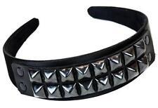 2 Row Black Pyramid Stud Hair Headband Hairpiece Alternative Goth Punk Emo Metal