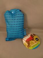 NEW XXL Packable Dog Rain Coat Poncho in Blue Polka Dot pattern by RC Pets