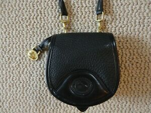 VTG Dooney & Bourke Black AWL Cavalry Crossbody/Belt Bag Convertible, RARE!!