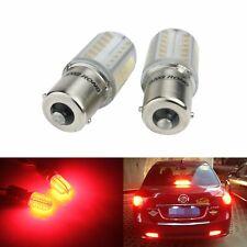 2x Ampoules 1156 BA15s P21W LED 8W COB Rouge Clignotant Feux de Recul Stop 12V