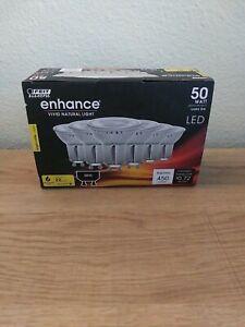 FEIT Electric Enhance GU10 LED Bulb Bright White 50 Watt 6 pack