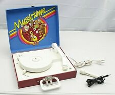 Musictime Ertl Vanity Fair Record Player Model 150 w/ Microphone ~Works Other