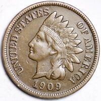 XF 1909 Indian Head Cent Penny FREE SHIPPING