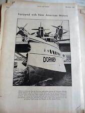 NOVEMBER, 1930 MAGAZINE #S721-DORNIER DO-X SEAPLANE EQUIPPED WITH AMERICAN MOTOR