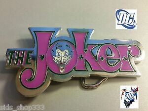 New Dc Comics the Joker Batman Belt Buckle cosplay Harley Quinn new design