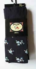 Bonnie Doon Night Flowers Tights tights size S NEW Navy Trend Pattern