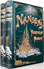 "1898 FRIDTJOF NANSEN'S ""FARTHEST NORTH"" NORTH POLE EXPEDITION NEAR FINE FOLD OUT"