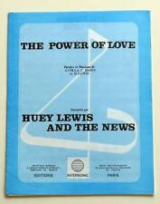 Partition sheet music HUEY LEWIS AND THE NEWS : The Power of Love * 80's