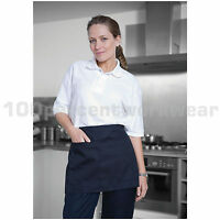 Warrior AP206 Polycotton Waist Half Apron Double Pocket Catering Bar Cleaning