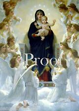 Virgin Mary picture Queen of Angels  Madonna with Chlld  Virgen María Poster
