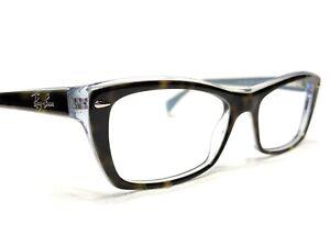 Ray Ban RB5255 5023 Women's Tortoise & Blue Rx Designer Eyeglasses Frames 51/16