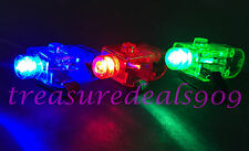 100 pcs Mix Colors RGB LED Party Laser Finger Light Beam Torch Ring Club Rave