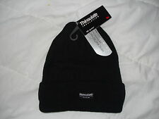 2012 THINSULATE INSULATION WINTER LINED BEANIE HAT BLACK RRP £6.95