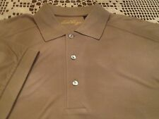 BEN HOGAN TAUPE COLORED SHIRT WITH LOGOS SIZE M