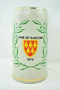 HHB 32nd Army Air & Missile Defense Command 1973 (AADCOM) 3L Beer Stein