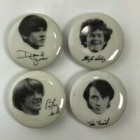 "The Monkees Band Pins 1"" Complete Set Pin Memorabilia NOS"