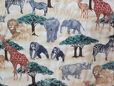 "JUNGLE ANIMALS 18"" CLOTH NAPKINS - SET OF 4 - OTHER PRINTS AVAILABLE"