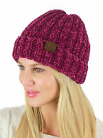 New! C.C Unisex Chenille Soft Warm Stretchy Thick Cuffed Knit CC Beanie Cap Hat
