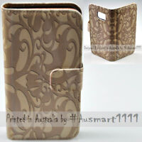 For Apple iPhone Series Case - Floral Ornate Print Flip Wallet Phone Case Cover