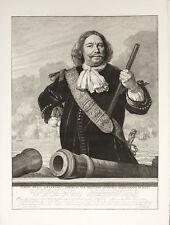 EGBERT KORTENAER AMMIRAGLIO OLANDA NETHERLANDS ADMIRAL -Incisione Originale 1800