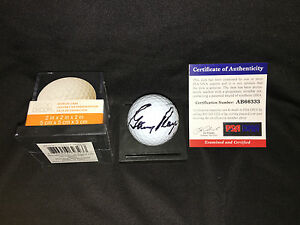 Gary Player Signed/Auto Official Masters Golf Ball Black Knight 3x Champ PSA #12