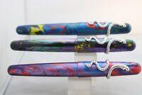 Fuliwen No. 017 Oversize Acrylic Medium Fountain Pens, 3 Finishes, UK Seller