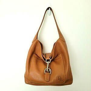 Dooney & Bourke Annalisa Lock Sac Tan Pebble Grain Leather Hobo Bag Medium Size