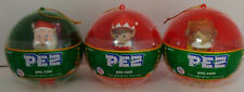 PEZ - Mini Christmas Ball Ornaments - Lot of 3