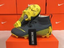 New Nike Junior Superfly 6 Elite Fg Soccer Cleats (Grey/Yellow) Size: 4 Youth
