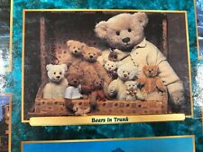 Vtg 2003 Bears Puzzle in Trunk 750 Pieces Sure-Lox Teddy Plush Stuffed Animals