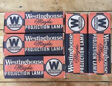 Lot Of 5 Vintage Westinghouse Mazda Projection Lamps 300W 120V T10 Bulb 2CC8 Fil