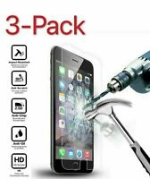 3-PACK iPhones 12 11 Pros 8 7 6 Plus X Xs XR Tempered Glass Screen Protectors