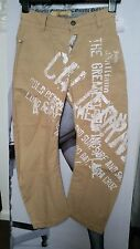 """MENS/BOYS 128 CM BEIGE FIT TROUSERS/JEANS """"JOHN GALLIANO""""NEWSPAPER STYLE 8YEARS"""