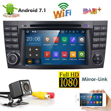 "7"" Android 7.1 Car DVD Player GPS Radio for Mercedes Benz E W211 Ram 2G+Free cam"